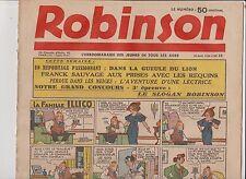 ROBINSON n°18 du 30 août 1936. Mandrake, Guy l'Eclair...