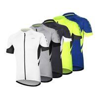 Men's Full Zipper Cycling Jersey Bicycle Shirt Short Sleeves MTB bike Jerseys
