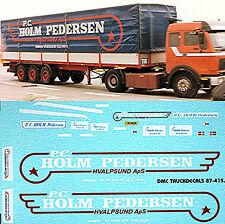 MERCEDES BENZ SK - PC holm-pedersen Lona 1:50 ADHESIVO PEGATINA Camión