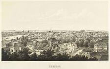 DRESDEN - Radeberger Vorstadt & Neustadt - Gustav Frank - Lithografie 1860