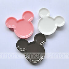 10PCS Mixed Color Mickey Resin Flatback Cabochon For Craft Decoration 3.8x3.6cm