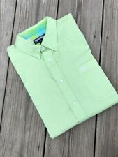 Panhandle MEN'S Lime Green Western Button Down Long Sleeve Show Shirt ~ Large