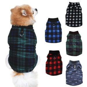 Pet Dog Coat Jacket Clothes Winter Warm Fleece Vest Puppy Sweater Coat Harness