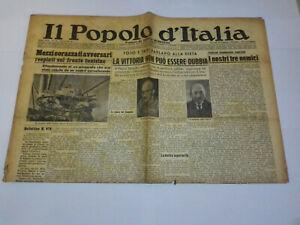 IL POPOLO D' ITALIA 29 GENNAIO 1943 BENITO MUSSOLINI GIORNALE D' EPOCA WW2