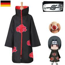 Akatsuki Naruto Kostüm Mantel Uchiha Itachi Stirnband Cosplay Ninja Anime Kostüm