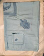 HM QUEEN  MARY (1867-1953) LINEN SET - WITH HER EMBROIDERED INITIALS - 1920s