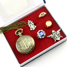 Black Butler Cosplay Accessories Ring Necklace Watch Anime Gift Set Collectibles