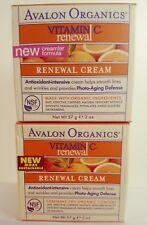2 Avalon Organics Vitamin C Renewal Facial Cream creamier formula Antioxidant