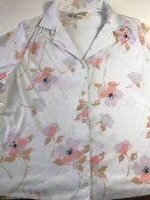 Vtg Sears The Fashion Store pera prest womens button down shirt beautiful flower