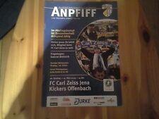 Programm Carl Zeiss Jena - Kickers Offenbach 08/09