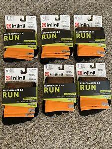 Injinji Performance 2.0 midweight Mini-Crew Toe Socks Tangerine Size S Lot Of 6