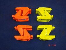 4 paia di Spear & Jackson del muratore mattone blocco di linea in Gomma Arancione/Verde
