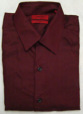 Alfani Spiced Wine Fitted Long Sleeve Dress Shirt - Size 15 - 32-33