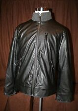 Vince Camuto Black Faux Leather Jacket  New NWT Mens Large L
