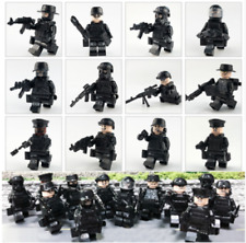 12PCS The modern military series SWAT salon police force weapon Lego Toys Custom