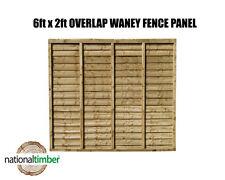 (Pack of 10) 6ft x 2ft Waney Lap Overlap Larch Lap Fence Panel