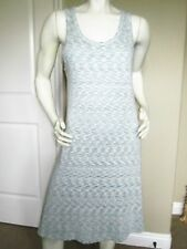 SOL ANGELES SPACED-DYED TURQUOISE SLEEVELESS DRESS SIZE: M