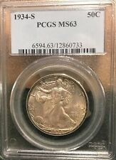 1934s MS 63 PCGS Half Dollar - lovely album toning