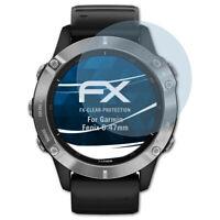 atFoliX 3x Pellicola Protettiva per Garmin Fenix 6 47mm chiaro