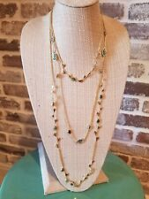 Kendra Scott White Abalone  Shell Adrienne Layer Gold Necklace Rare
