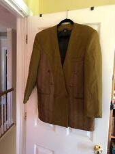 Pronti collection by Phita, Mens Size Med Double Breasted Blazer. Bronze Tones