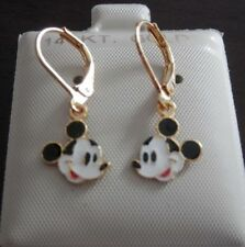 14K Gold Filled MICKEY MOUSE hanging Earrings / Teenager / Little Girl  USA