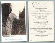 William England, Via Mala vintage carte de visite, CDV, provenance album personn
