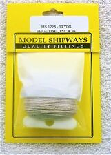 "Model Shipways Fittings MS 1228 Beige-Line Rigging .051"" X 16'. 10 YDS Per Pack"
