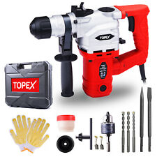 Topex 1010W SDS+ Rotary Hammer Drill Demolition Jack Hammer Kit w/ Chisels Drill