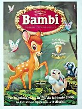 🎬 2005 Film BAMBI Classici Walt Disney - MANIFESTO Cinema Movie Poster