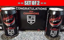 SETof2 Coke Zero Cola LA Kings 2014 NHL Stanley Cup Champs Aluminum Can Limited