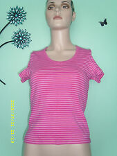 Waist Length Yes Crew Neck Striped Tops & Shirts for Women