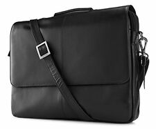 Visconti 658 Womens Leather Business Shoulder Messenger Bag Briefcase Black