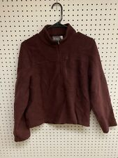 Ibex Brown Zip Up Fleece Jacket Size S Made in Usa