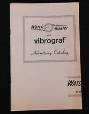 "c1957 BULOVA ACCUTRON WATCH MASTER ""VIBROGRAF"" WATCH RATE RECORDER SALES CATALOG"