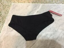 HOT KISS Glitter Foil Black Cotton Thong Panties size Medium