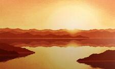 "Scott Nellis ""Mirror Lake"" Hand Signed Serigraph Fine Art sunset mountain lake"