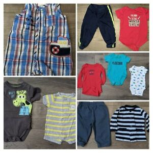 "LOT Size 0-9 Month Infants Boys Clothes Mixed Brands Carter""s"
