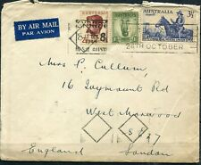 AUSTRALIA  1949  cover st. air mail to  ENGLAND