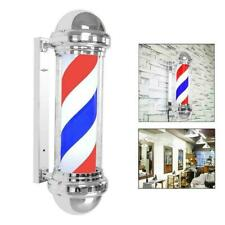 "28"" Barber Shop Sign M311D Rotating Stripe Pole Light Led Us Plug Red Blue White"