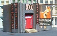 Downtown Deco HO Scale Kitty Korner XXX Club Building Structure + sidewalks.