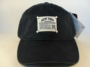 New York Yankees MLB Vintage American Needle Strapback Hat Cap Navy