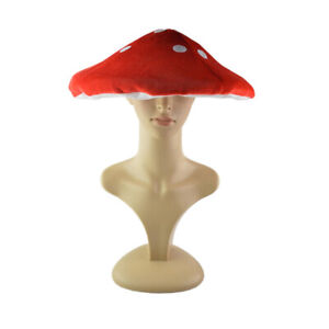 1 Pc Toad Hat Red Lovely Head Decoration Mushroom Shaped Hat for Adult