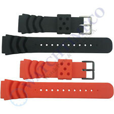 22 mm Soft Rubber Diver Watch Band Strap for Seiko Z22 4FY8JZ SKX007 SKX009