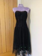 Karen Millen Dress Stunning Brown Net Corset Cocktail Dress UK 12
