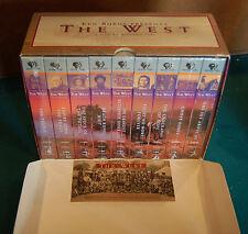 Ken Burns Presents The West: A Film by Stephen Ives (VHS, 9-Tape Box Set) NIB