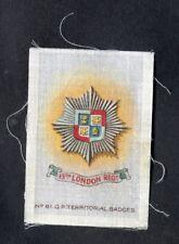 Godfrey Phillips Silk: 1913: No 61, Territorial Badges: 13th London Regt.