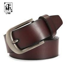 Mens 100%25 Cowhide Genuine Leather Buckle Belts Formal & Casual Jeans C34