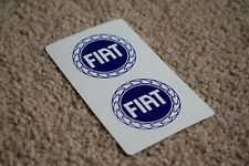 FIAT Blue Logo Badge Classic Punto Abarth Coupe Racing Car Rally Sticker 100mm