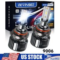 Bevinsee 9006 HB4 LED Headlight Bulbs for Chrysler Sebring Sedan 07-10 Low Beam